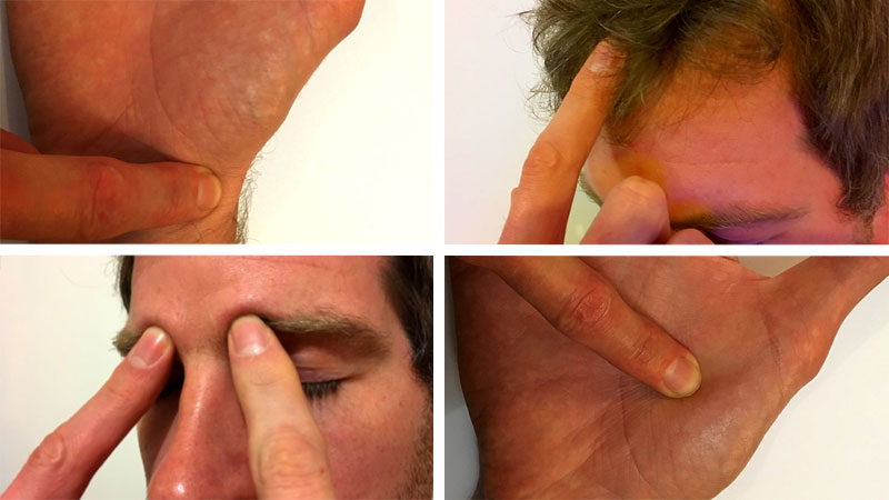 Four acupressure points you can use to relieve flu and cold